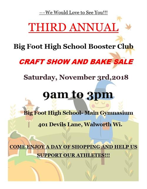 Booster Club Craft and Bake Sale