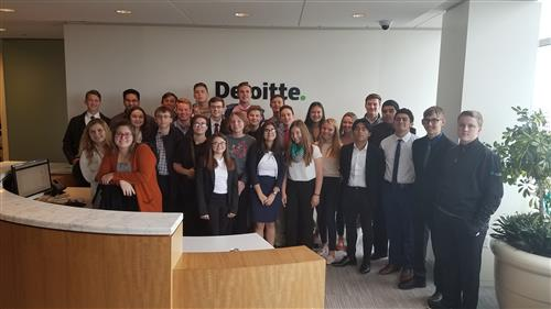 FBLA Students at Deloitte in Milwaukee