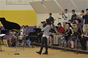 "Jazz band performs at ""Stir it Up."""
